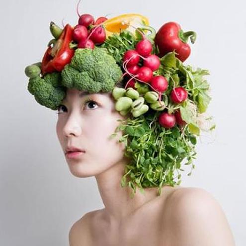 La vitamina e la recepción dentro para los cabellos