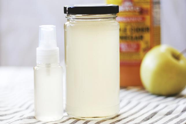 como hacer un shampoo casero y el acondicionador natural de vinagre de sidra de manzana